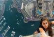 Виктория Одинцова на крыше небоскреба в Дубае